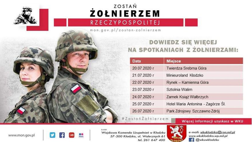 Kamienna Góra: WKU zaprasza do wojska!