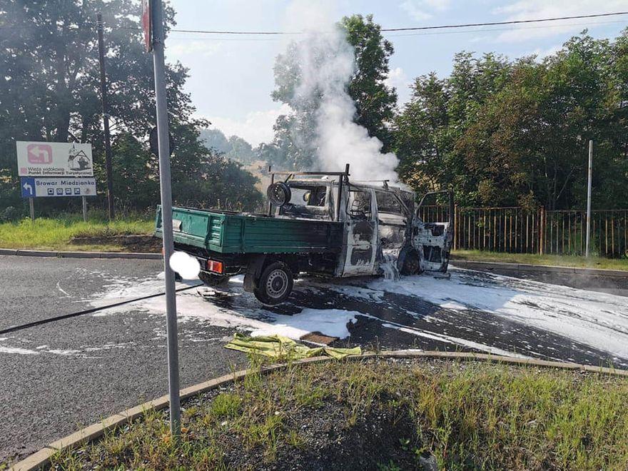 Radomierz: Pożar busa w Radomierzu