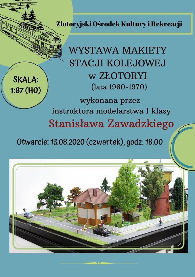 Złotoryja: Wystawa makiety stacji kolejowej w holu kina