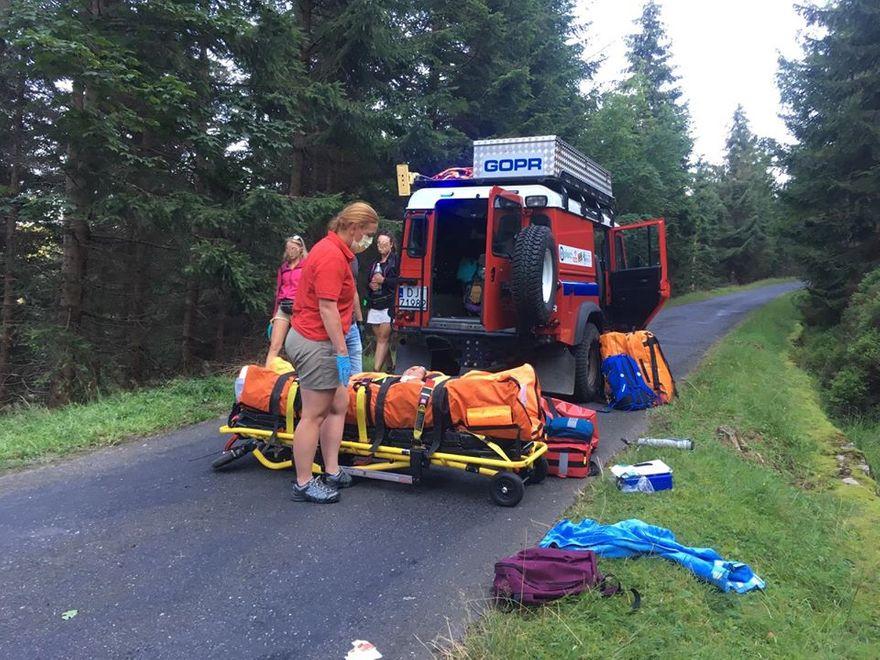 Region: Wypadek rowerzystki
