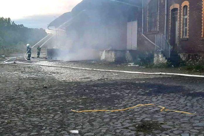 Gryfów Śląski: Palił się magazyn