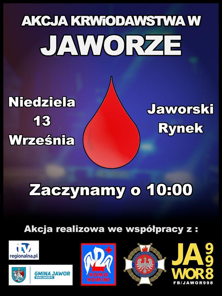 Jawor: Będą pobierać krew