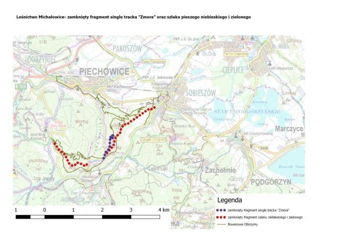Piechowice: Zamknięte szlaki w Michałowicach