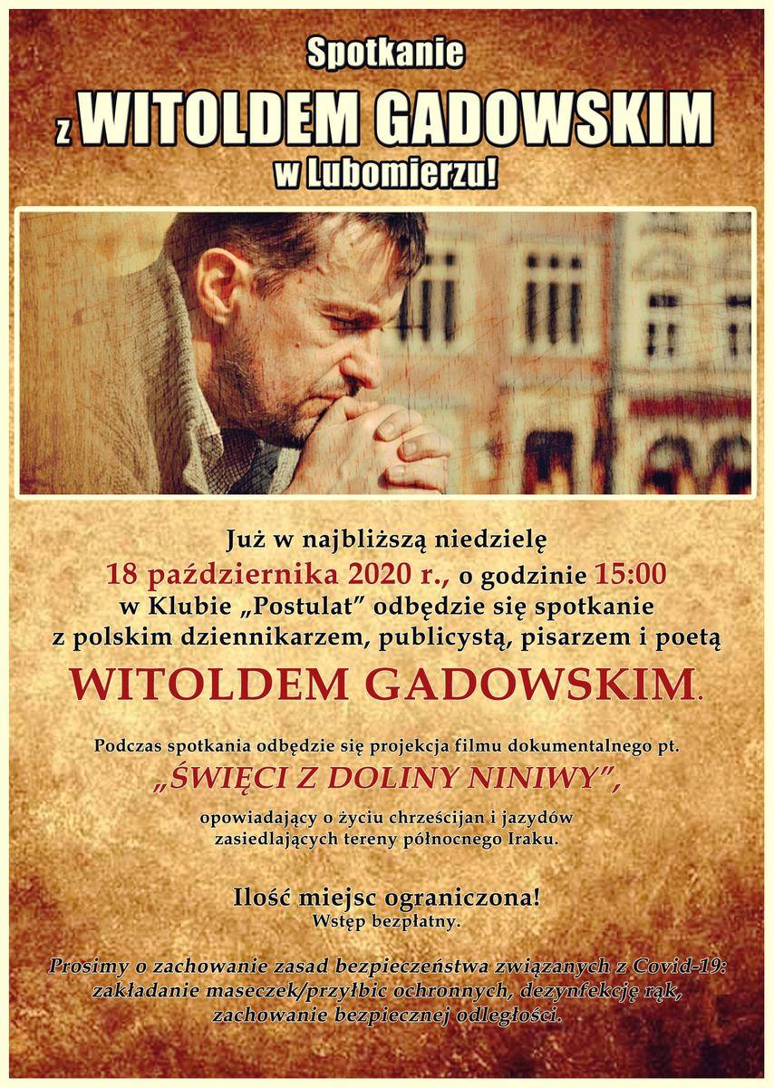 Lubomierz: Spotkanie z W. Gadowskim