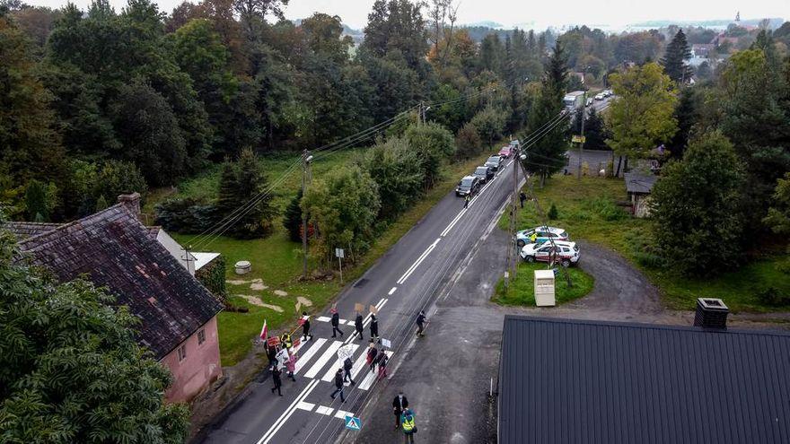 Chmieleń: Protest w Chmieleniu