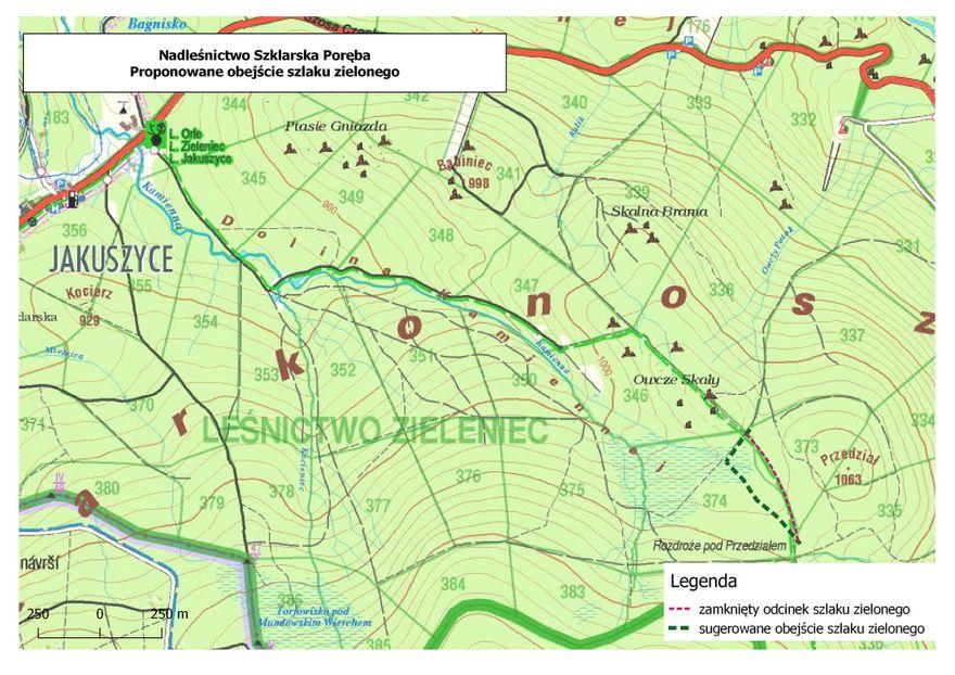 Szklarska Poręba: Zamknięty szlak w Jakuszycach