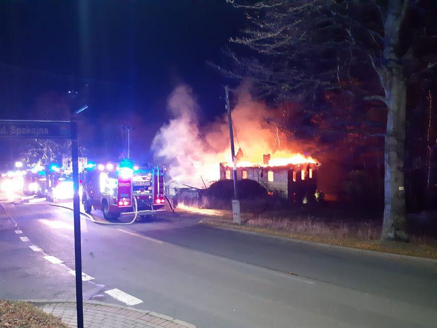 Karpacz: Pożar budynku w Karpaczu