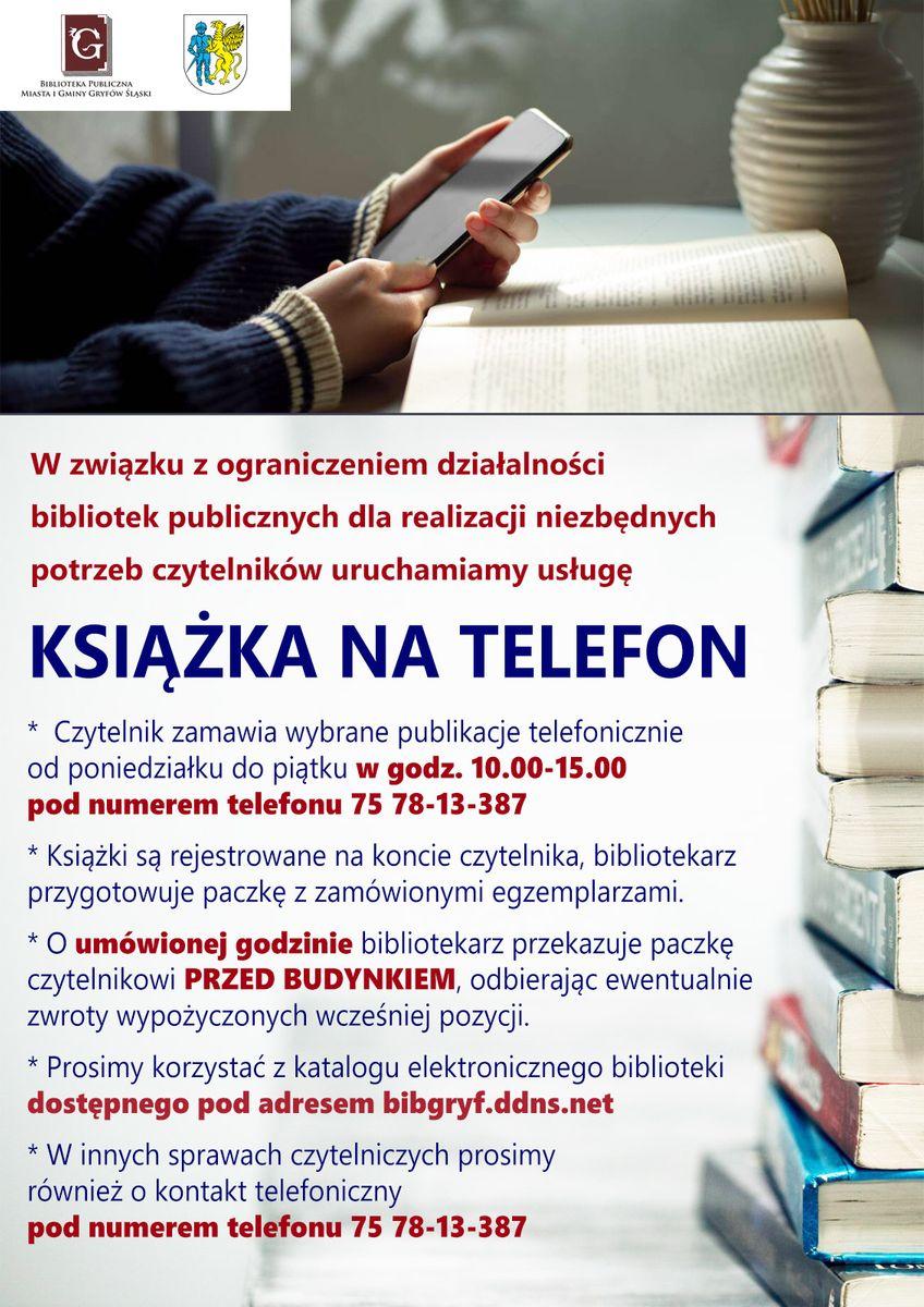 Gryfów Śląski: Książka na telefon