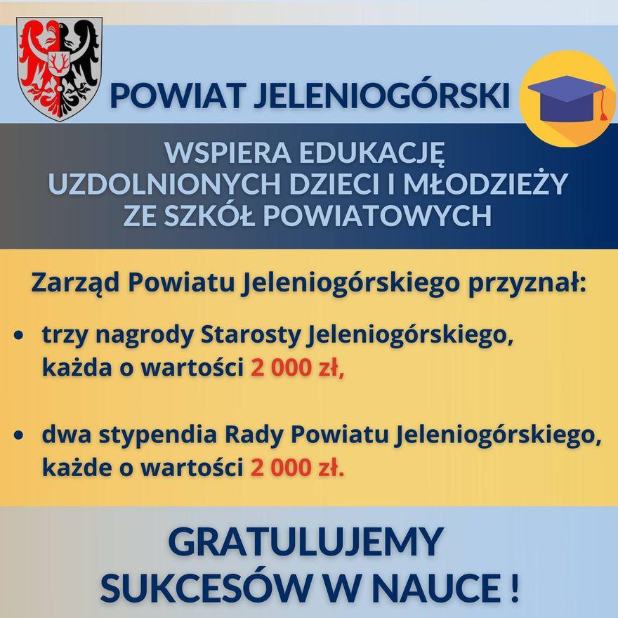 Powiat: Stypendia i nagrody od powiatu