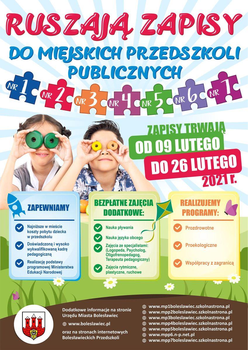 Bolesławiec: Zapisy do przedszkoli