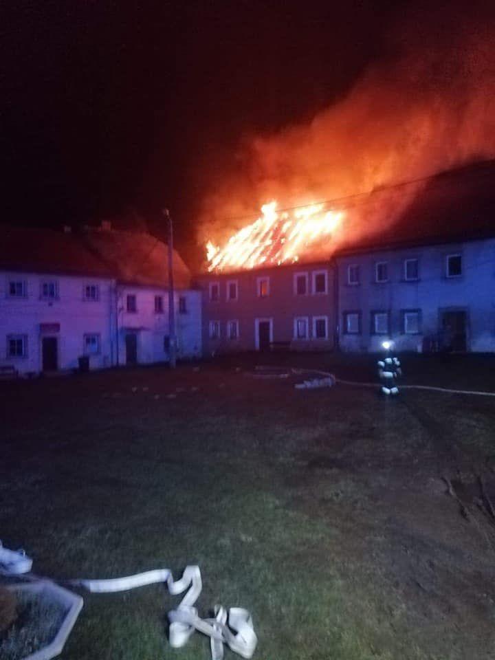 Złotniki Lubańskie: Płonął budynek mieszkalny