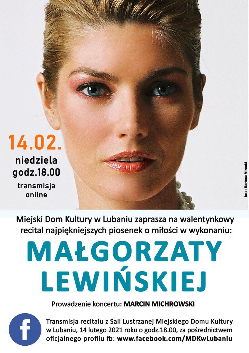 Lubań: Koncert Małgorzaty Lewińskiej