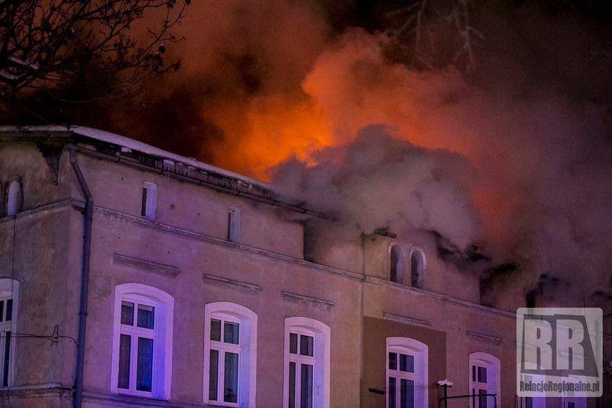 Kamienna Góra: Nocny pożar budynku (aktualizacja)