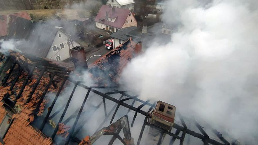 Karpniki: Pożar domu w Karpnikach