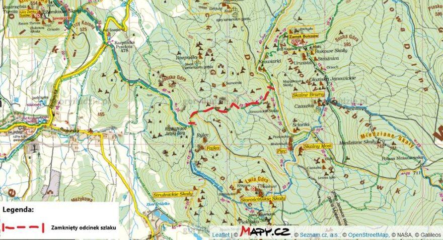 Powiat: Zamknięty zielony szlak w Rudawach