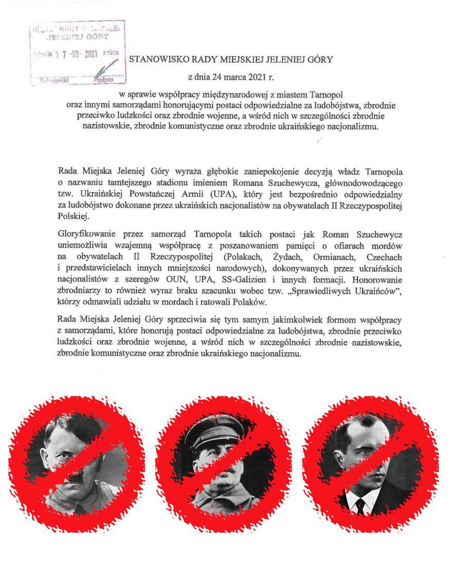 Jelenia Góra/ Tarnopol: Z Tarnopolem nie po drodze