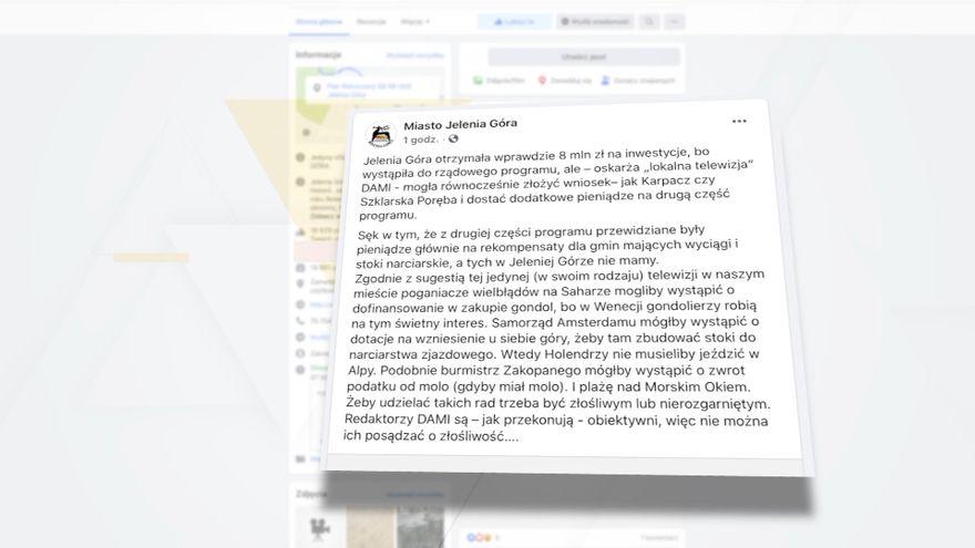 Jelenia Góra: TV Dami odpowiada Miastu Jelenia Góra