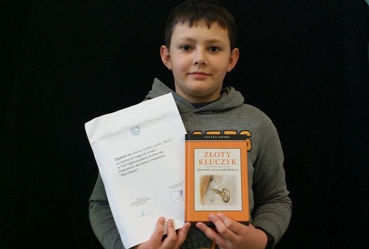 Jelenia Góra: Uczeń SP7 drugi raz zwycięzcą konkursu literackiego
