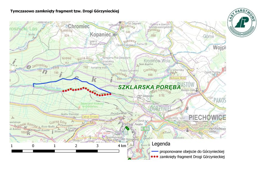 Powiat: Czasowe zamknięcie Drogi Górzynieckiej
