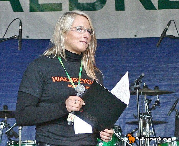 Mistrzyni Olimpijska Agnieszka Wieszczek w roli konferansjerki