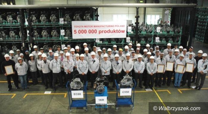 Wałbrzych: Pięciomilionowy produkt wałbrzyskiej Toyoty
