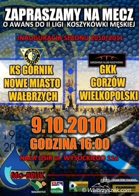 Wałbrzych: Mecz na szczycie w III lidze koszykówki