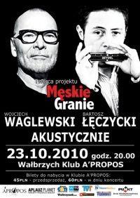 Wałbrzych: Wojciech Waglewski i Bartosz Łęczycki w A' Propos – bilety do wygrania