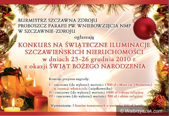 REGION, Szczawno-Zdrój: Szczawno wybierze najpiękniejszą iluminację