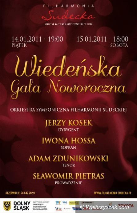 Wałbrzych: Wiedeńska Gala Noworoczna w Filharmonii Sudeckiej – BILETY ROZLOSOWANE