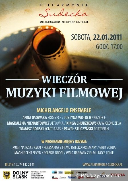 Wałbrzych: Filmowe przeboje w filharmonii