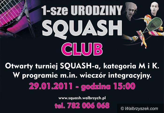 Wałbrzych: Pierwsze urodziny Squash Klubu