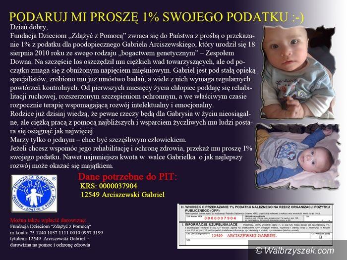 Wałbrzych: Mały Gabryś potrzebuje naszej pomocy