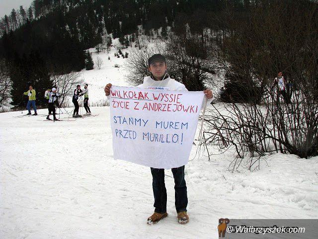 REGION, Andrzejówka: Protest ekologów w czasie Biegu Gwarków