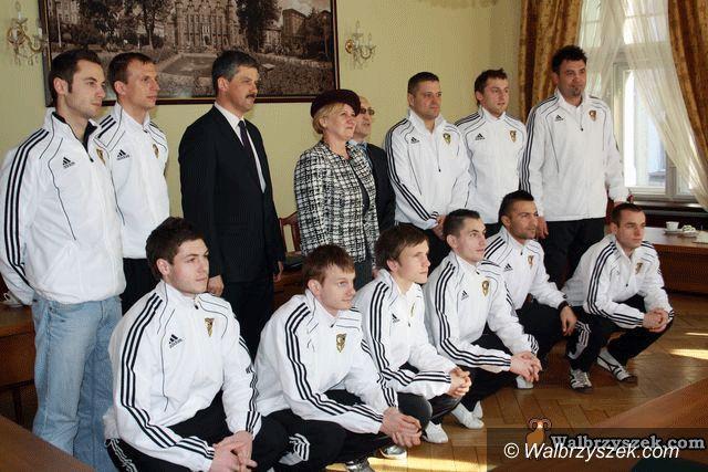 Wałbrzych: Mistrzowie Polski z wizytą w Ratuszu
