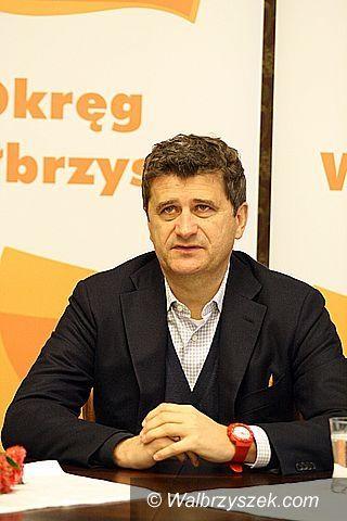 Wałbrzych: Janusz Palikot wśród studentów PWSZ