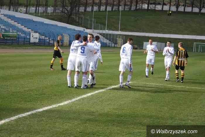 II-liga piłkarska: Górnik Wałbrzych bogatszy o pięć punktów
