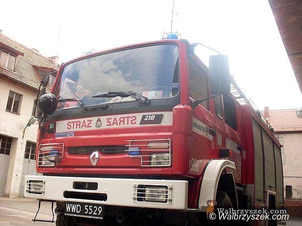 REGION, Boguszów-Gorce: Trudna akcja strażaków