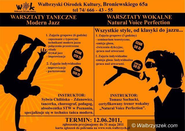 Wałbrzych: Warsztaty taneczne i wokalne w WOK