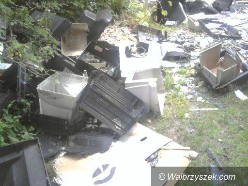Wałbrzych: Kolejne dzikie wysypisko śmieci