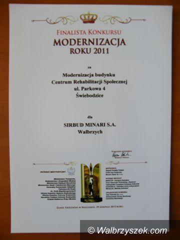 Świebodzice: Świebodzice finalistą Modernizacji Roku 2011