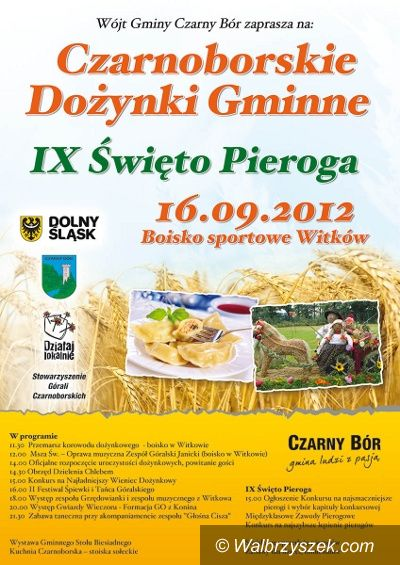 REGION, Czarny Bór: Dożynki i Festiwal Pieroga w gminie Czarny Bór