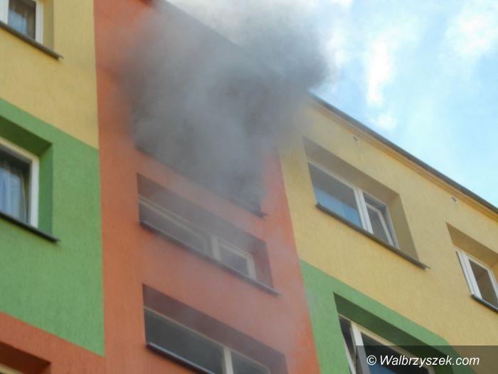 Wałbrzych: Pożar przy Makuszyńskiego