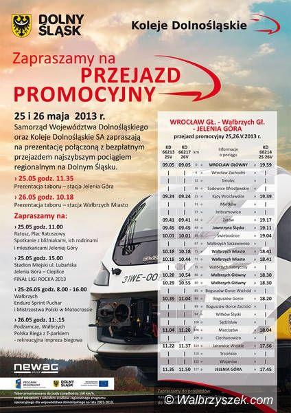 Wałbrzych: Nowe pociągi na trasie Wrocław – Wałbrzych – Jelenia Góra
