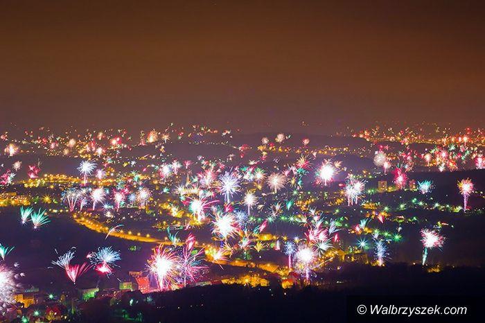 Wałbrzych: Wałbrzych w Sylwestrową Noc, czyli kapitalne zdjęcie Marcina Jagiellicza