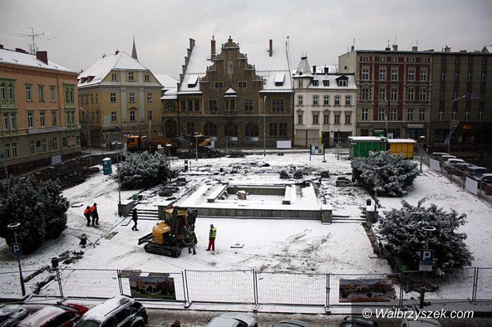 Wałbrzych: Kamera rejestruje prace na placu Magistrackim