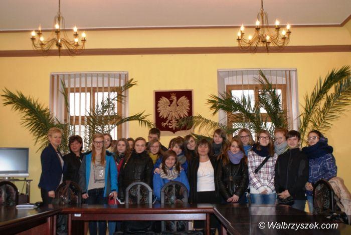 REGION, Boguszów-Gorce: Uczniowie z wizytą w Ratuszu