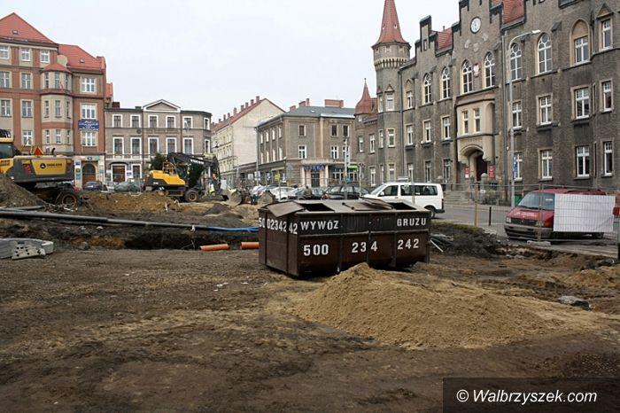 Wałbrzych: Rozkopany plac Magistracki