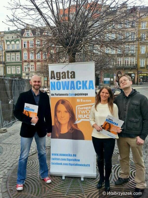 Wałbrzych: Agata Nowacka szukała poparcia w Wałbrzychu