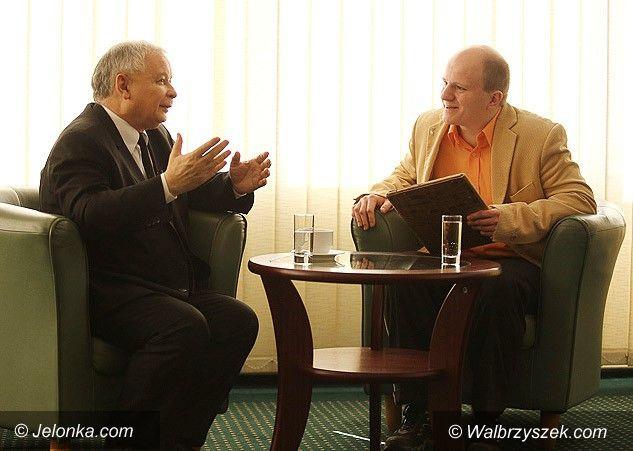 Jelenia Góra: Jarosław Kaczyński dla Jelonki.com.