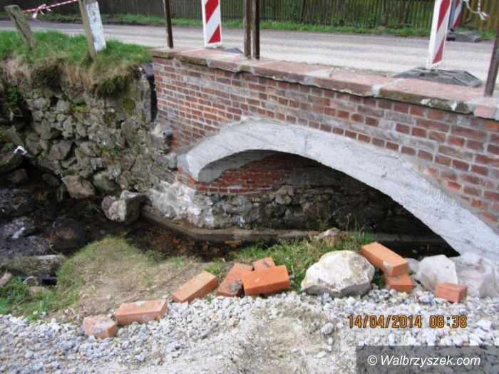 REGION, Glinno: Powiat wałbrzyski remontuje most w Glinnie